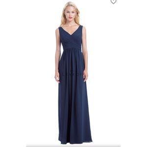 Bill Levkoff Navy Blue Chiffon Bridesmaid Dress